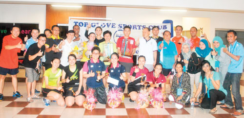 Top Glove's company-wide badminton tournament held in October this year.