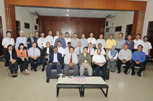 The 24 participants of JPB's Leadership Acceleration Programme posing with Shahrul seated front row 3rd from left).