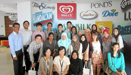 """An Industry Inside: Fast Moving Consumer Goods"" visit to Unilever."