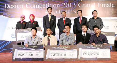 Winners of the Innovate Malaysia Design Competition 2013 Grand Finale, Penang.
