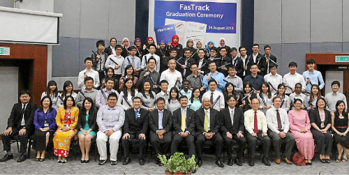 The graduation ceremony of FasTrack, a 12-month programme targeted at high-achieving Malaysian engineering graduates.