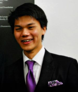 Shaun Kua, currently studying at Oxford University, Britain.