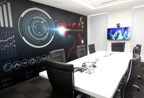 The Iron Man meeting room.
