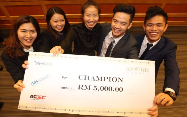 The winning team, mentored by IHS Global Malaysia.