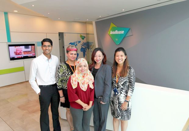 The dedicated human resource team that serves Lendlease Malaysia headed by Agnes Tan (second from right).