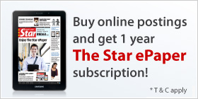 Buy online postings and read The Star ePaper for 1 year!