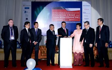 Tay (second from the right) at the launch of International Conference on Financial Crime and Terrorism Financing(IFCTF) 2011