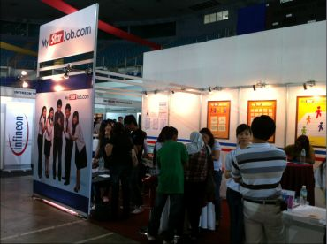 Visitors at MyStarJob.com booth during the Penang Career & Postgraduate Expo last year.