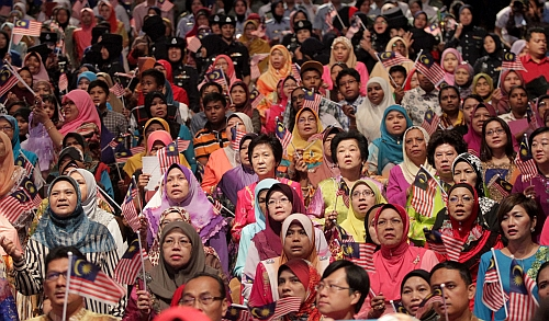 The big turnout at the Women's Day celebration at the Putra World Trade Centre.