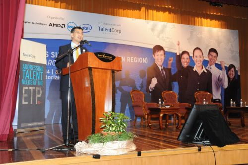 Johan Merican, CEO of TalentCorp giving his opening speech.
