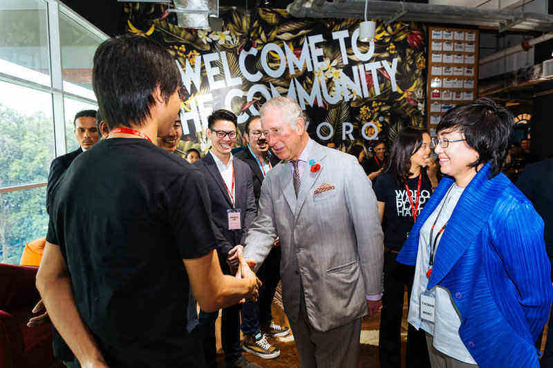 Prince of Wales, Prince Charles dropped by the WORQ office.