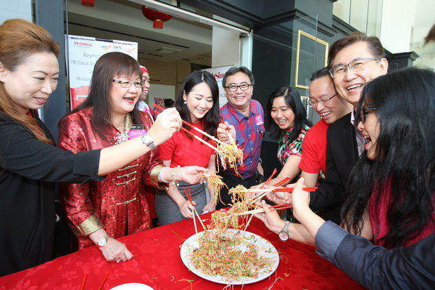 Lunar New Year festivities were also at hand with yee sang.